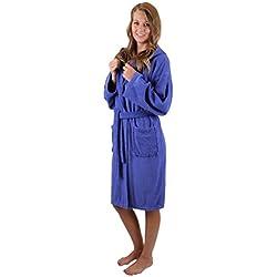 Betz Peignoir de Bain Capuche Nizza en Tissu éponge 100% Coton Femme Homme Enfant Peignoir de Sport en Couleurs et Tailles diverses 128-164 et S-XXL (XL - Bleu)