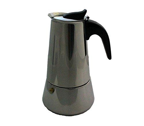 Cuperinox, S.L. - Cafetera acero inox induccion 4 tazas, color acero