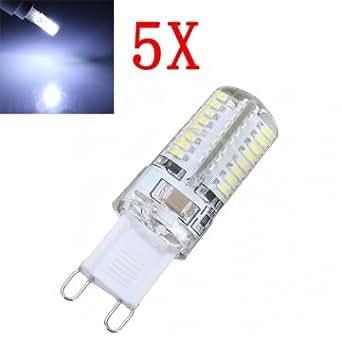 Hohe Qualität 5X G9 3W Pure White 64 SMD 3014 LED Mais -Glühlampe 220V