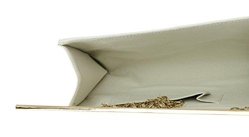 Girly HandBags Lackleder glänzend Handtasche Weiß