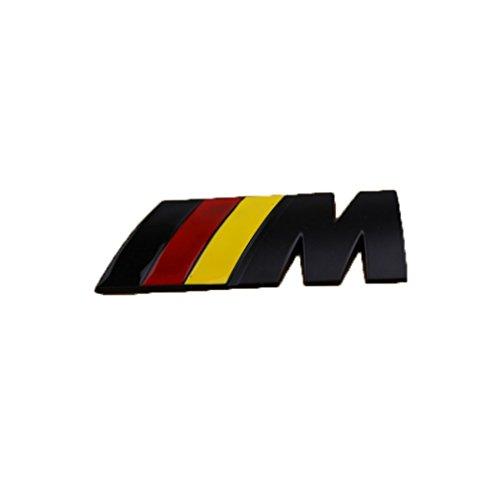 Fireman's High Quality Stylish 3D Metal Grill Car Sticker Rear Trunk Emblem for E46 E30 E34 E36 E39 E53 E60 E90 F10 F30 M3 M5 M6 (Black German M)