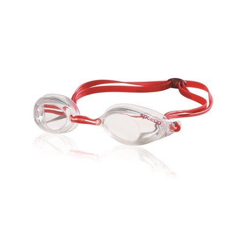 Speedo Liquid Storm Swim Goggle, Schwimmbrille, rot / durchsichtig