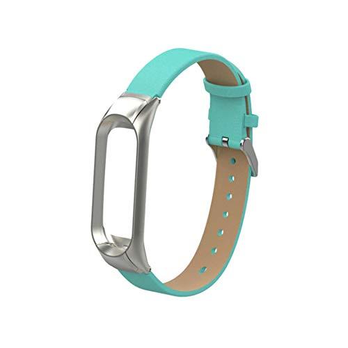 Cypapa® 10 Farben Faux pu Leder Armband Armband silikon Band Strap + Rahmen für xiaomi mi Band 3 (Für Xiaomi Mi Band 3, Grün) - Faux Leder-rahmen