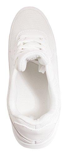 Elara Trendige Unisex Sneaker | Damen Herren Kinder Sport Laufschuhe | Turnschuhe | Chunkyrayan Weiss Houston