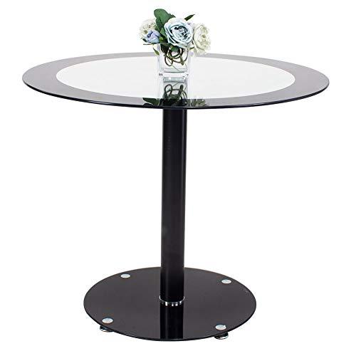 Euco rotondo nero in vetro temperato vetro tavolo alto tavolino nero + vetro trasparente tavolino da salotto/comodino/salotto/sala riunioni/mobili per ufficio