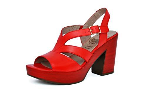 Wonders Sandali Donna L-9134 Rosso Nuovo