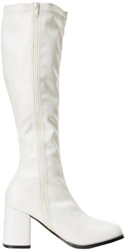 Pleaser Gogo300/yl, Damen Stiefel Weiß (Wht Str Pu)
