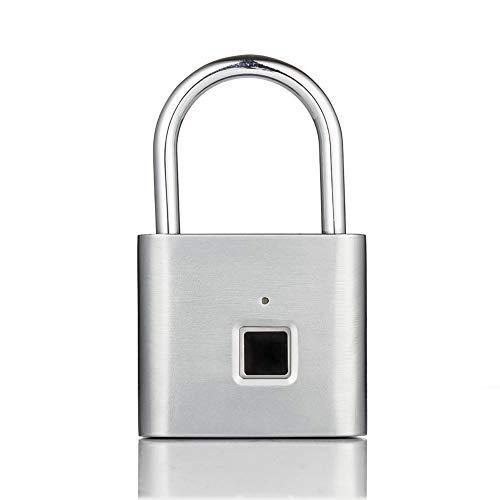 COOYT Smart Fingerprint Lock Keyless USB wiederaufladbare Tür Gepäck Tasche Schloss Anti-Diebstahl-Sicherheit Fingerabdruck-Vorhängeschloss (Lock-bildschirm-tür)