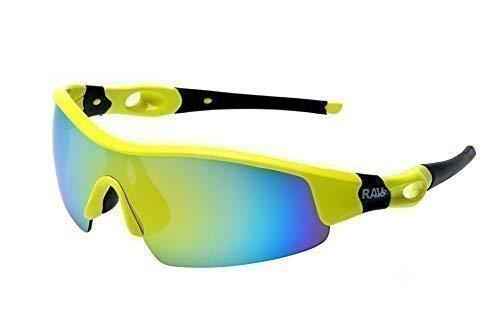 RAVS SPORTBRILLE - RADBRILLE -Triathlon - Volleyball - Extrem Ski Sonnenbrille Super Flash Verspiegelt