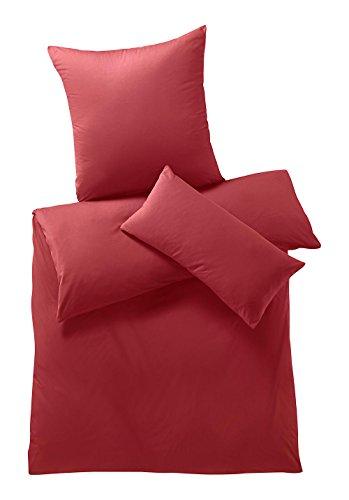 hessnatur Jersey-Bettwäsche aus Reiner Bio-Baumwolle Tomate 135x200+80x80 cm (Tomaten Jersey)