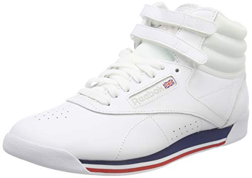 Reebok Damen Freestyle Hi Fitnessschuhe, Mehrfarbig (Retro/White/Bunker Blue/Primal Red/Skull 000), 37 -
