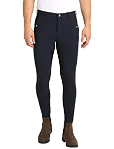 Ultrasport Men's Riding Breeches with Alos Full Seat - Navy/Navy, Size 46 (31 Inches Waist/32 Inches Length)