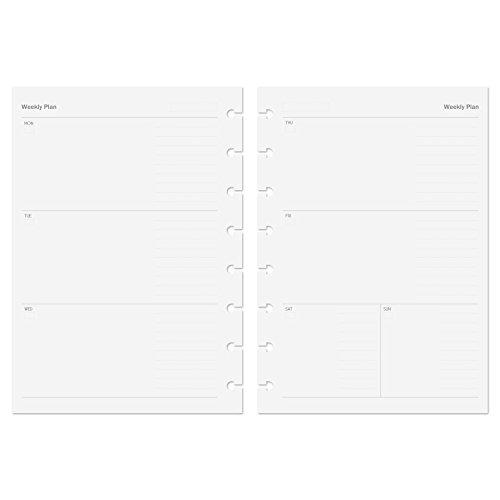 Discagenda trasparente accessori per Discbound planner personale organizzatore A5 5.8x8.3in Top-opening Pocket