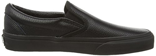 Vans U Classic Slip-On Perf Leather, Baskets Basses Mixte Adulte Noir ((perf Leather) Black/b