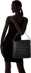 Tous Saca Estelia de Piel, Shopper para Mujer, Negro (Black), 15x34x33 cm (W x H x L) de Tous