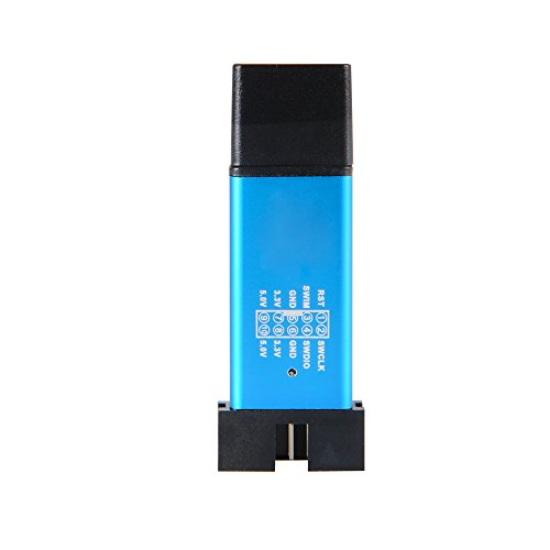 XCSOURCE® Aluminiumlegierung Shell USB Programmierer Einheit Mini STM8 STM32 Emulator Downloader mit Dupont Kabel für ST-LINK V2 TE707 - 4