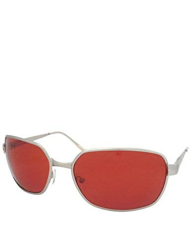 Tyler Style Sonnenbrille, Silber / Rote Linse