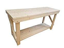 ACORN Wooden Workbench - Handmade Heavy Duty Work Table - Made From Construction Grade Timber (5ft)