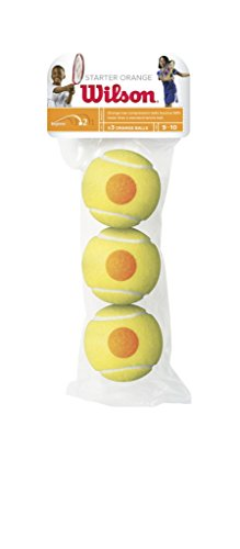 Wilson Unisex - Kinder Tennisball Starter Game, orange, 3 Stück