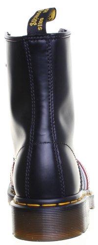 SV-Dr Martens Union Jack Unisexe en cuir 8OEillet Cheville Bottes Mesdames Plat-Noir Noir - noir