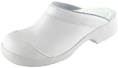 Euro-Dan Flex Zuecos de seguridad, abierto, con Puntera de acero, blanco SB+A+E+SRC - Blanco (blanco), 35 EU
