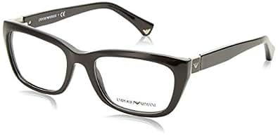 Emporio Armani Montures de lunettes Pour Femme 3058 - 5017  Black ... db0d6487c155