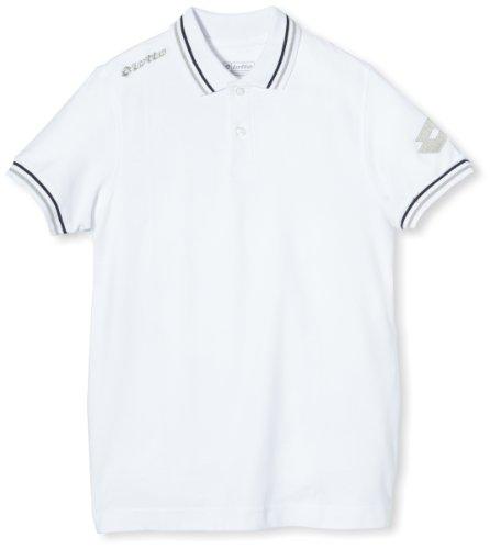 Lotto Sport Jungen Polo Shirt Omega Off PQ JR, white, XL, Q8563 (Off Herren Polo-shirt)