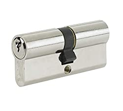 Yale B-ED4040-SNP Euro Double Cylinder, 3 Keys Supplied, Standard Security, Boxed, Suitable for All Door Types, Nickel Finish, 40:10:40 (90 mm)