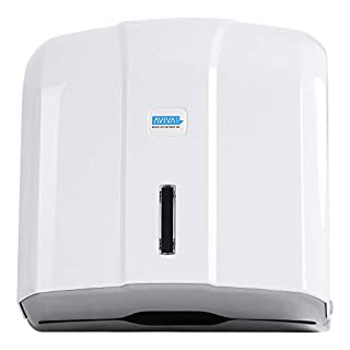 Aviva Clean Paper Hand Towel Dispenser 400 Sheets White Suitable for Hospitals and Practices High Quality Design