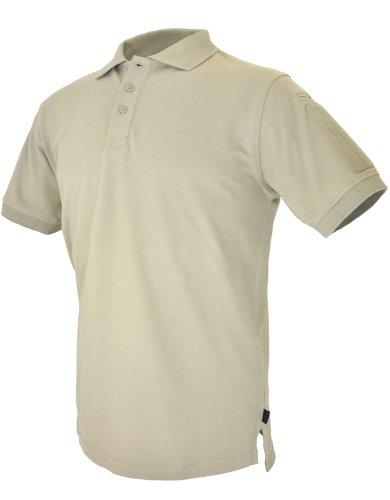Hazard 4 Herren Unterjacke Plain Front Battle Polo Shirt Tan Größe XXL