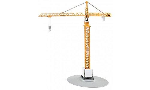 SIKU 1899, Turmkran, 1:87, Metall/Kunststoff, Gelb, Höhe von 40 cm, Bewegliche Teile -