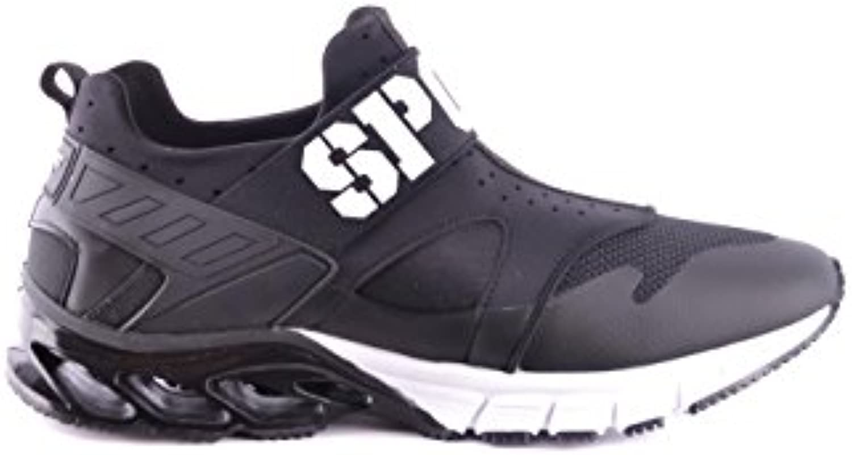 PLEIN SPORT Herren MSC0912STE003N02 Schwarz Polyester Sneakers