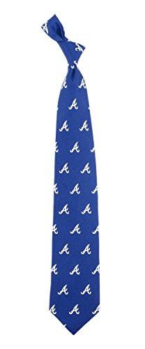"""Atlanta Braves MLB """"Prep"""" Men's Print Silk Tie"""
