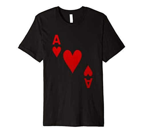 Herz Ass Spielkarte Karten Spiel Kostüm | T-Shirt ()