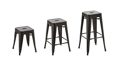 Sedia sgabello metallo sgabello da bar cucina sedia impilabile