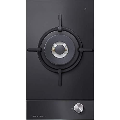 Fisher & Paykel Cooktop Designer 300mm Wide 'Gas on Glass' Wok Burner Chrome Pin Stripe Detail