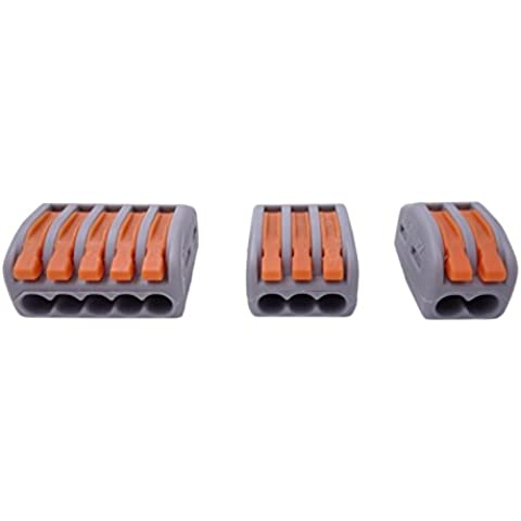 Qadira 222–412(20pcs) 222–413(20pcs) 222–415(16pezzi) lever-nut assortimento Conduttore Compatto Connettori pack-56pcs