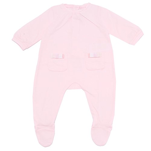 BURBERRY 5105T tutina Bimba Baby Cotone rosa Clothes Romper Kid [6 Months]