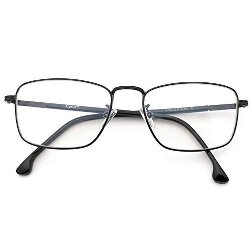Cyxus Blaulichtfilter Computer-Gläser zum Blockieren von UV-Kopfschmerz [Verringerung der Augenbelastung] Retro Brillen, Unisex (Herren/Damen) (Metallrahmen)