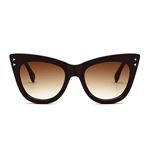 ZRTYJ Sonnenbrillen Steigungs-Weinlese-Frauen-Sonnenbrille-Marken-Design-Dreieck-Niet-Mode-Straßen-Sonnenbrille Für Frauen Cat Eye New