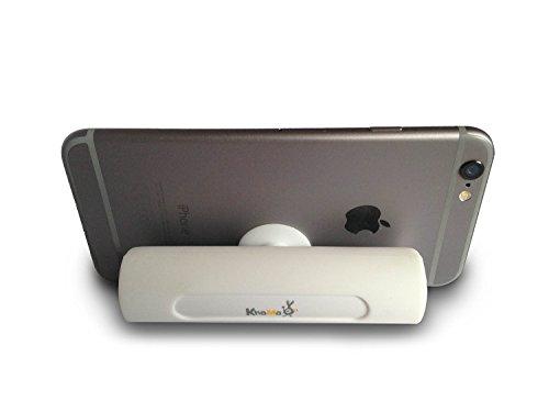 Power Bank   KHOMO® Batería Portátil Externa 2600 mAh con Ventosa para Soporte   Cargador USB Compatible con Apple iPhone 6, iPhone 6 Plus, iPhone 5, 5C, 5S, iPhone 4, 4S, iPhone 3GS, iPad Mini 1, 2, 3, iPad 2, 3, 4 Retina, Air 1, Air 2, Samsung Galaxy S6, S6 Edge, S5, S5 Mini, S4, A3, A5, Alpha, Note 2, 3, 4, Tab 3, Tab 4, HTC M9, Huawei, Sony Experia, Android, Nokia, Blackberry