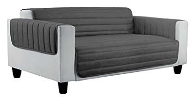 Datex sofa cover Elegant – Light grey/Dark grey – 230 x 95 - low-cost UK light shop.