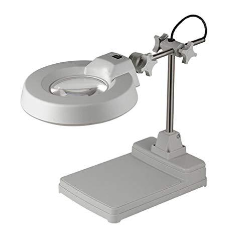 Gtt HD-Desktop-Vergrößerungsplastikmetallglas mit Heller LED-Leseidentifikations-Reparatur-Handy-Reparatur-Schreibtisch-Lampe (Reparatur Lampe Tisch-lampe Die Teile Für)