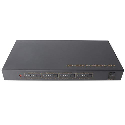 NUYAN HDMI True Matrix 4x4.4 HDMI-Eingang und 4 HDMI-Ausgang, unterstützt Full HD-, RS232- und IR-Steuerunghigh tech Matrix-port Expander