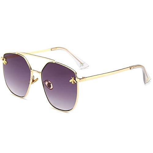 CHKE Unisex-Sonnenbrillen, Sonnenbrillen mit einfacher Optik und geringem Gewicht Pilot Classic Outdoor Sports Komfortable und langlebige Sonnenbrille mit großem Brillengestell,Gray
