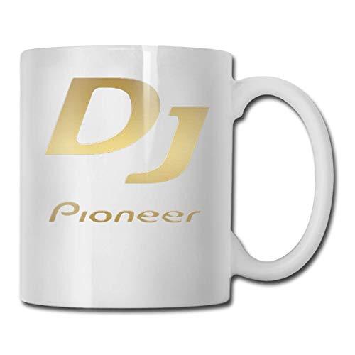 Daawqee Tazze Da Viaggio Coffee Mug DJ Pioneer Mug Funny Ceramic Cup for Coffee and Tea with Handle, White