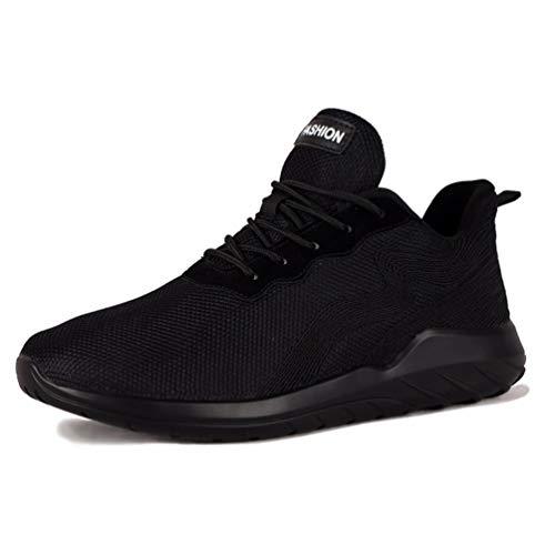 Männer Sneakers Running Shoes für männliche Sommer Athletic Walking Mesh Breathable Comedable Man Sportschuhe (Danskin Schwarz Top)