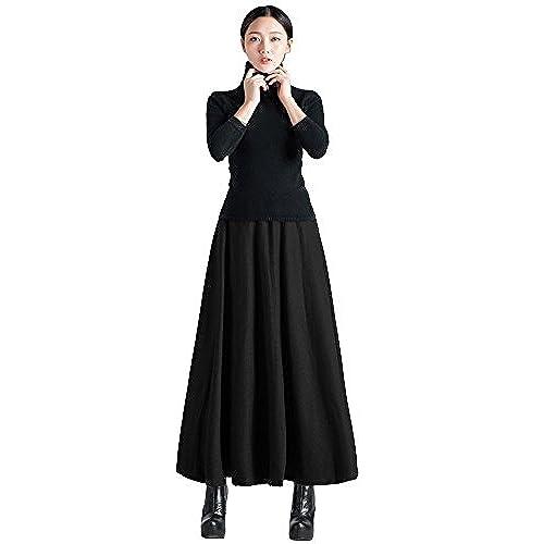 Black Ankle Length Dress