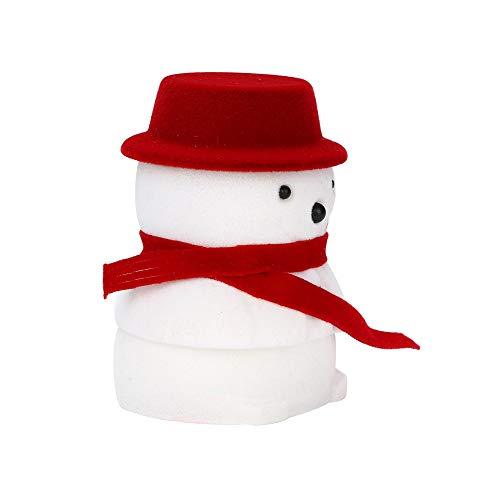 Sulifor Schneemann Schmuckschatulle, Weihnachten Puppe Box Puppe Box Ring Schmuckschatulle, Geschenkbox Größe 4.2 * 6.5cm -