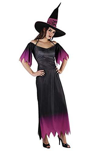 Unbekannt Damen-Hexe im Wald, Hocus Pocus Hexe & Teufel Kostüm Damen Erwachsene Kostüm Halloween-Party (Lila Hexe)